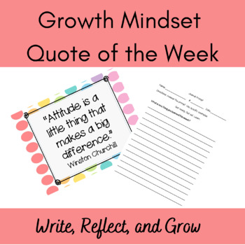 Growth Mindset Quote of the Week