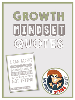 Growth Mindset Quotes (Color and Black and White)