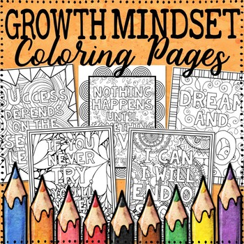 Growth Mindset Coloring Pages |  Growth Mindset Posters | 20 Creative Designs