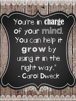 Growth Mindset Quotes - Farmhouse decor theme
