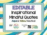 Growth Mindset Quotes - Nautical Glam Aqua **EDITABLE**
