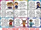 Growth Mindset Quotes Posters--Growth Mindset Quotes Bookmarks--Quotes Notes