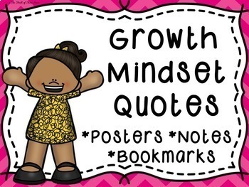 Growth Mindset Quotes Posters--Growth Mindset Quotes Bookm