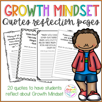 Growth Mindset Quotes Reflection Pages
