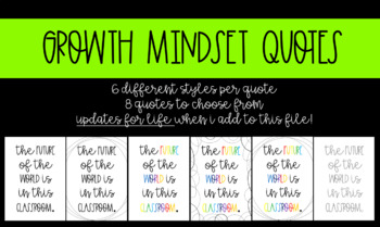 Growth Mindset Quotes- Updates for Life!