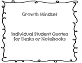Growth Mindset Quotes to Post on Desk/Notebooks