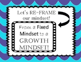 Growth Mindset Re-Frame Posters