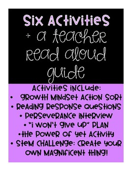 The Most Magnificent Thing - Growth Mindset Read Aloud Activities
