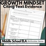 Growth Mindset: Reading Comprehension