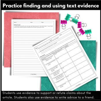 Growth Mindset Activities: Reading Comprehension