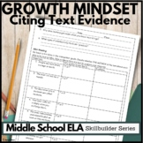 Growth Mindset Activities: Reading Comprehension Print and