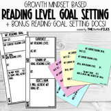 Growth Mindset Reading Level Goal Setting