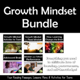 Growth Mindset Reading Passages & Activities for Teens Bundle