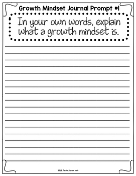 Growth Mindset Reflection Journal
