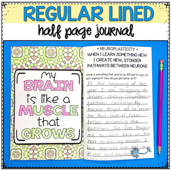 Growth Mindset Reflection Journal | End of Year Writing Activities