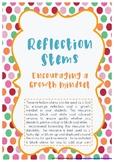 Growth Mindset Reflection Stems