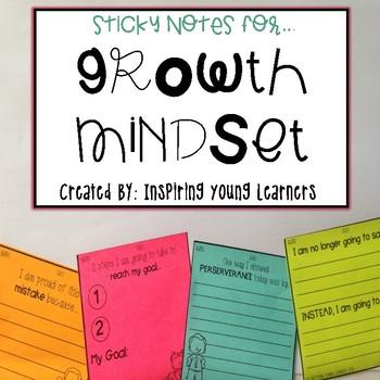 Growth Mindset: Reflection Sticky Notes