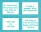 Growth Mindset Reminder Cards and Desk Tents (Solid Blue Background)