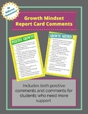 Growth Mindset Report Card Comments