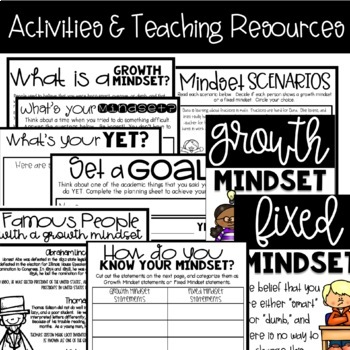 Growth Mindset Resource & Activity Guide for Upper Elementary Classrooms