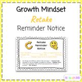 Growth Mindset Retake Reminder Slip