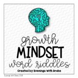 Growth Mindset Word Riddles (Who Am I?)