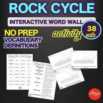 Science - Rock Cycle - Interactive Word Wall Activity - NO PREP