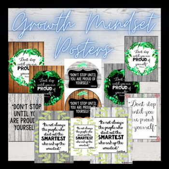 Growth Mindset Rustic Posters (THREE STYLES)