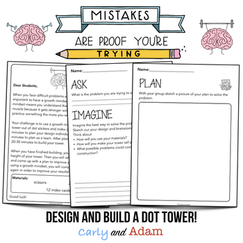 """The Dot"" Tower Builder Growth Mindset STEM Activity"