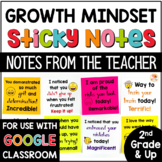Growth Mindset Notes from the Teacher | Sticky Notes of Encouragement