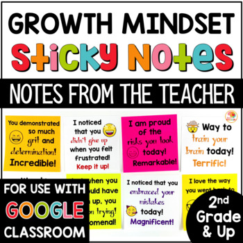 Growth Mindset: STICKY Notes from the Teacher