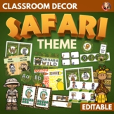 Growth Mindset Safari Jungle Theme Classroom Decor Editable