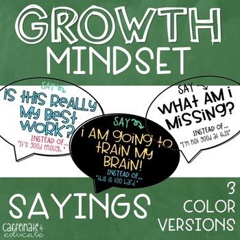 Growth Mindset Sayings