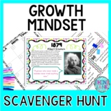 Growth Mindset Scavenger Hunt- Back to School, End of Year