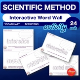 Science Bell Ringer Scientific Method Interactive Word Wall Activity NO PREP