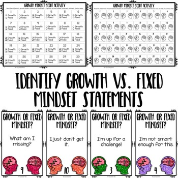 Growth Mindset Scoot Activities - Elementary School Counseling