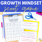 Growth Mindset Scoot Game School Counseling Game for Growth Mindset