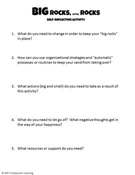 Reflection and Goal Setting Activity for Teachers and Students