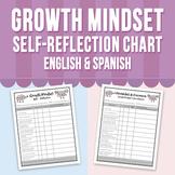 Growth Mindset Self - Reflection Chart - English & Spanish - FREE!!!