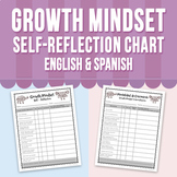 Growth Mindset Self - Reflection Chart - English & Spanish
