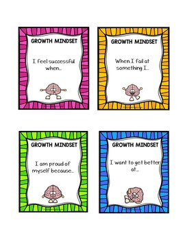 Growth Mindset Sentence Completion Activity