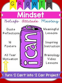 Growth Mindset Can Can Craft, Upper Grades
