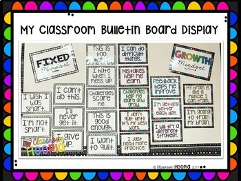 Growth Mindset Simple & Bright Bulletin Board Set