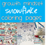 Growth Mindset Snowflake Winter Coloring Pages