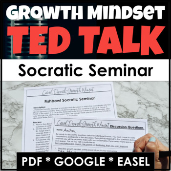 Growth Mindset Socratic Seminar Using Carol Dweck's TED Talk