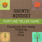 Growth Mindset Solution Focused Game Fortune Teller / Cootie Catcher Activities