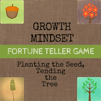 Growth Mindset Solution Focused Game Fortune Teller / Coot