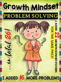 Growth Mindset Activities - I ADDED 16 MORE PROBLEMS AND 2