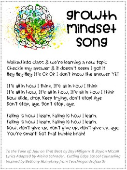 Growth Mindset Song (Juju on that Beat Tune)