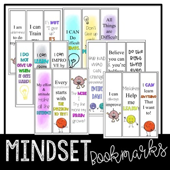 Growth Mindset Sort and Bookmarks